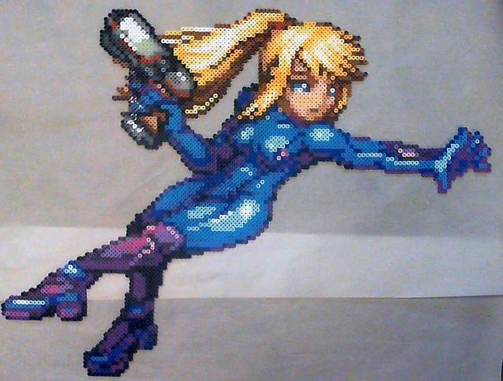 Princess Peach perler. Really diggin this one Sprite made by AbyssWolf