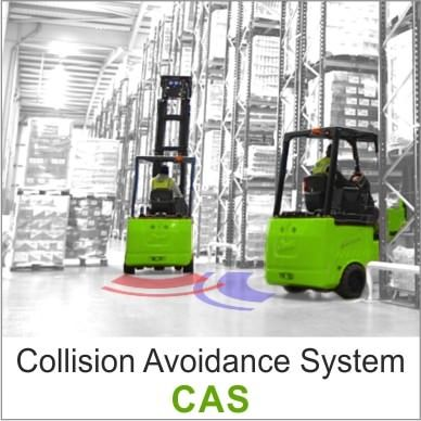 The Claitec's Collision Avoidance System (CAS) cautions forklift drivers of the presence of another truck within distances between 3-25 metres.