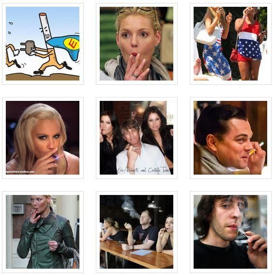 Celebrities smoking Electronic Cigarettes
