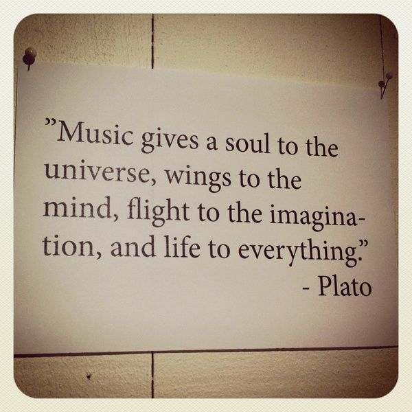 Quotes On The Importance Of Music: Plato, Quotes, Sayings, Music, Soul, Life, Best