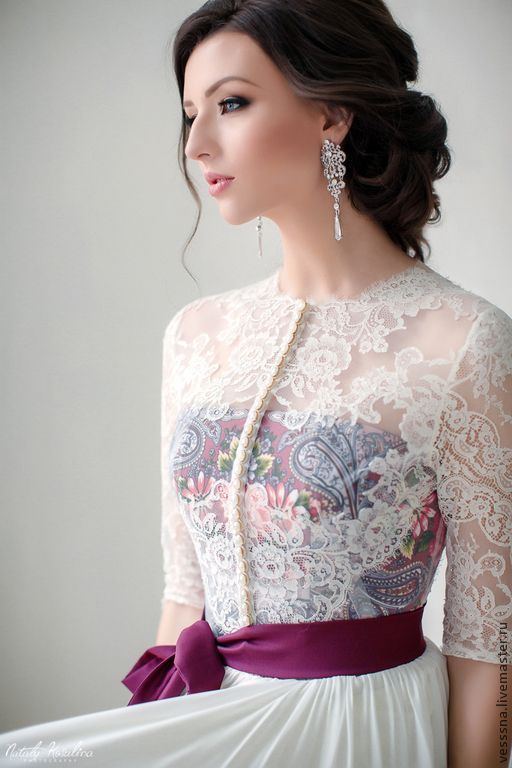"""Свадебное платье """"Зимняя сказка-3"""" - свадебное платье, свадебное платье с поясом / weddings dress handmade"""