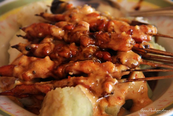 Chicken satay of Ponorogo is the kind of satay from Ponorogo, East Java. The chicken's meat is very tender and the seasonings are seeped but fat-free. Each piece of meat is thinly sliced so it seem...
