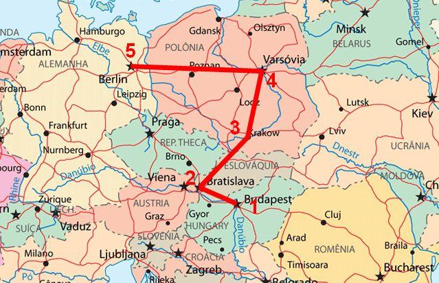CIRCUITO 1- Budapeste, Bratislava, Cracóvia, Varsóvia e Berlim Este circuito turistico, contemplou as cidades europeias de Budapeste, Bratis...