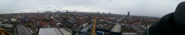 Brussels. Tower crane