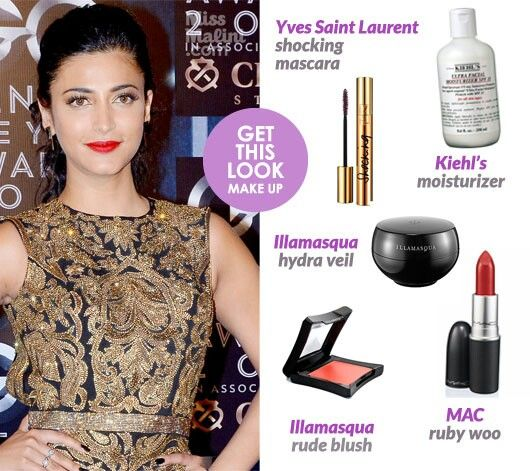 Shruti hassan makeup