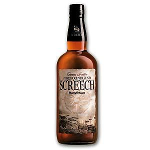 3. Newfoundland Screech Newfoundland Screech (a rum containing 40% alcohol) apparently got its unique name after a visiting American WWII serviceman downed the rum in one quick toss. His howls of distress caused a bystander to rush to his aid, only to discover that he wasn't injured or ill, he was merely 'enjoying' Newfoundland's prized rum. The funny name stuck, and today the rum and its place in Newfoundland's culture have become legendary.