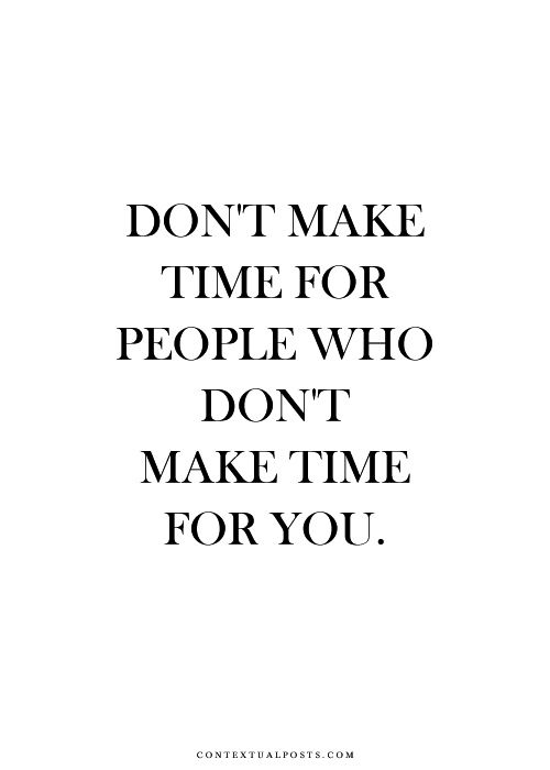 But Make Room for People who Make Room for you!