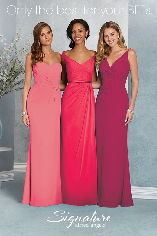Signature by Alfred Angelo bridesmaids: Only the best for your BFFs. Browse more bridesmaid dress styles at www.alfredangelo.com.