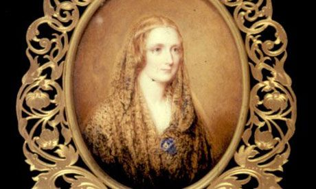 Miniature of Mary Shelley Frankenstein author by Reginald Easton