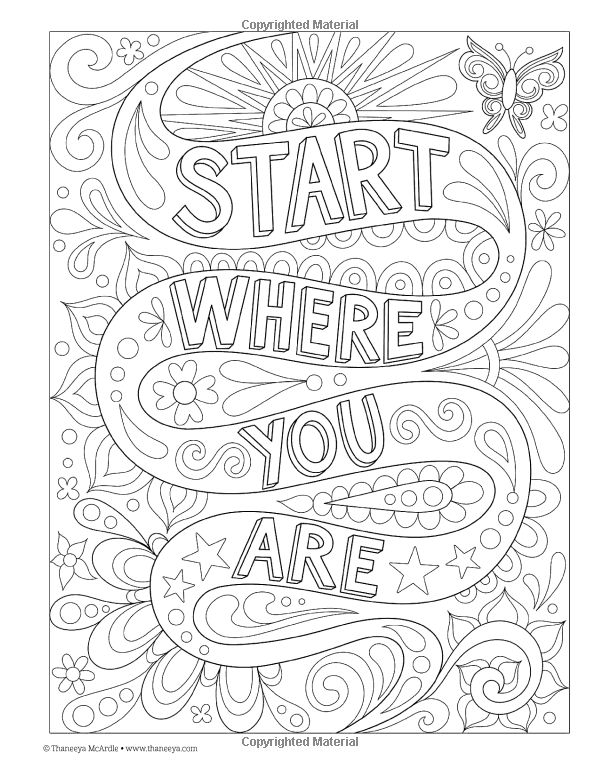 334 Best WORDS Amp PHRASES 3 COLORING PAGES Images On