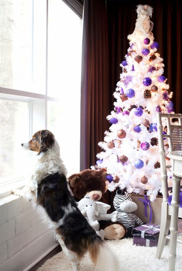pretty purple :): White Christmas Trees, Holiday Ideas, Christmas New Years, Jolly Holiday, Decor Dreaming, Winter Holidays, White Trees, Holiday Decor