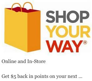 Exclusive Shop Your Way Coupons available :  Check it out here!!