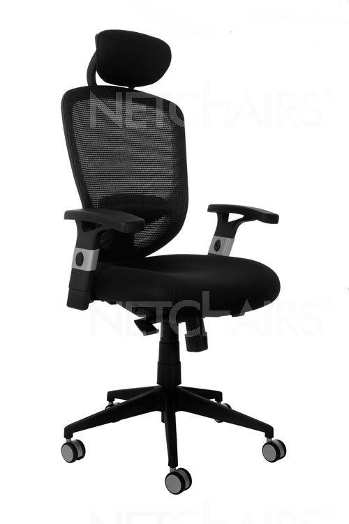 Cadeira Escritório Presidente Confort Ergonômica Giratória com Rodinhas, Apoio para Lombar, Apoio para Cabeça, Reclinável, Função Relax e Regulagem de Altura a Gás - 6699