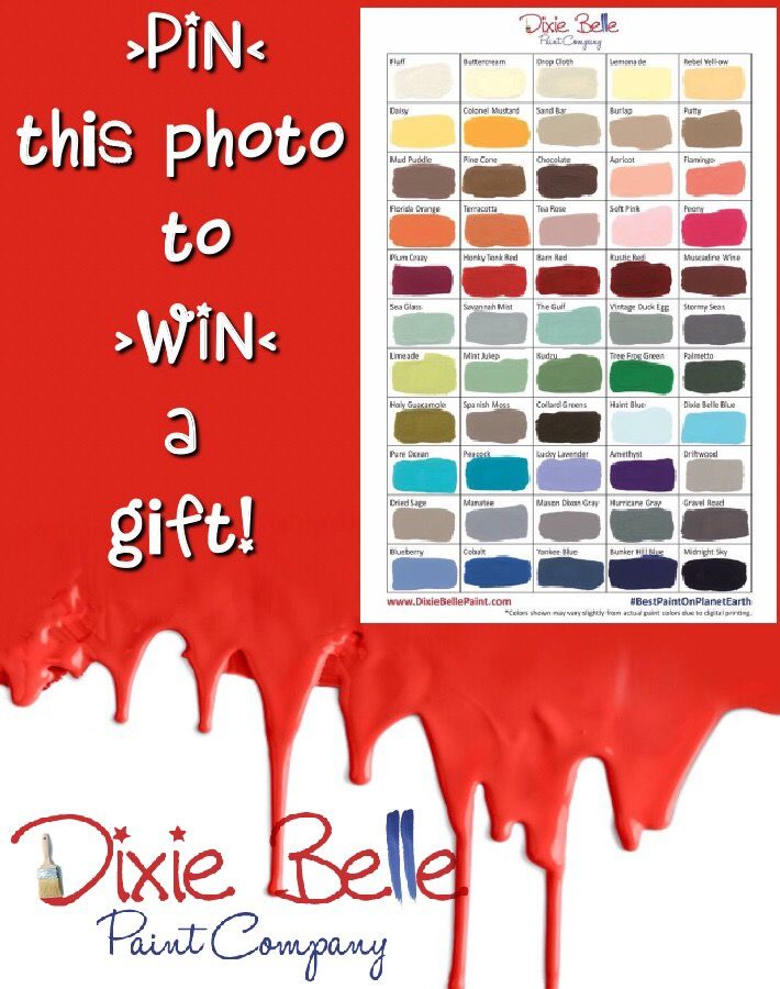 PIN TO WIN!  1) Follow Dixie Belle Paint Company on Pinterest & IG.  2) Pin THIS Dixie Belle photo. Then you will be entered to win a Dixie Belle Paint Co gift !   *(if you already follow just pin THIS photo!)  #chalklife #dixiebellepaint #happyeaster #pintowin #pintowinten #giveaway  #bestpaintonplanetearth
