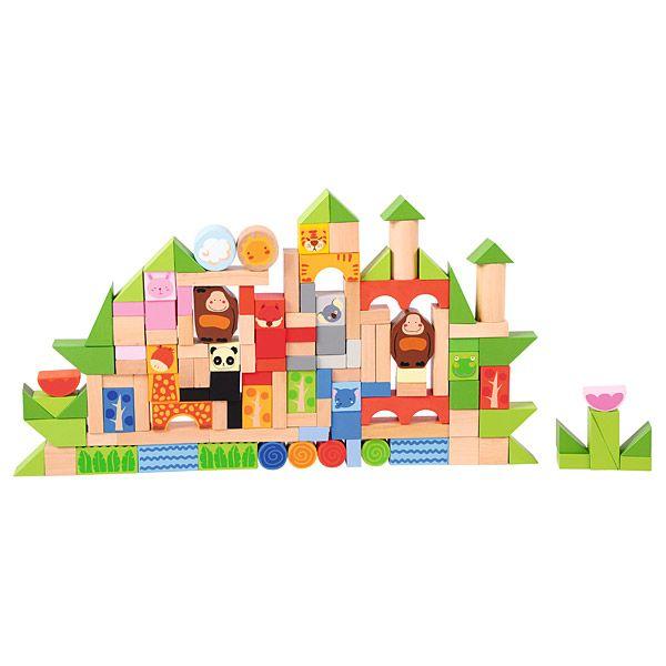 Drewniane klocki leśne miasteczko Moje Bambino #wood #toys #fun #kids  http://www.mojebambino.pl/klocki-konstrukcyjne/3517-lesne-miasteczko-klocki.html