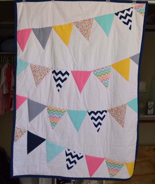 life's little moments: nursery projects {bunting quilt}