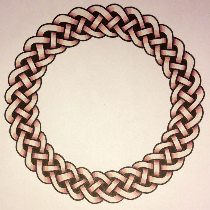 A celtic braid knot pattern. Pyro.