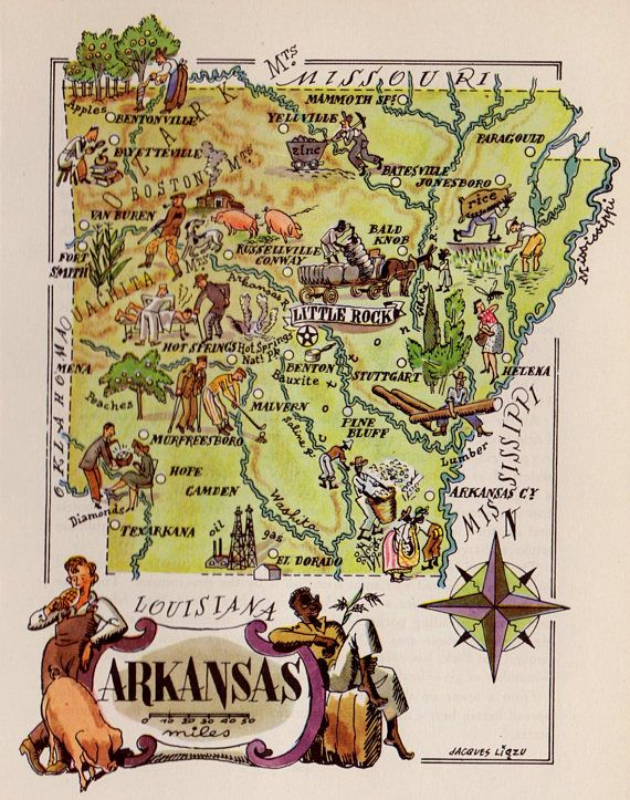 Best Vintage Picture Maps Images On Pinterest - Map of states in usa