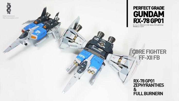 PG 1/60 RX-78/fb Gundam GP01 + Custom Mechanical Chain Base - Customized Build     Modeled by 가루8258
