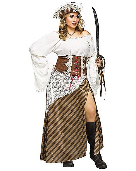 Seven Seas Sweetie Plus Size Adult Pirate Costume - Spirithalloween.com
