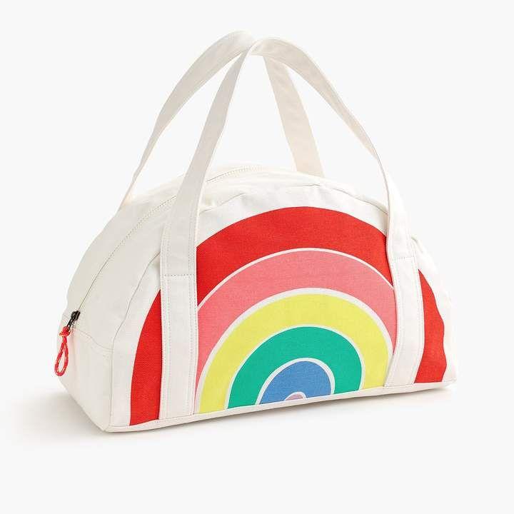 Girls Rainbow Overnight Bag Cotton Bag Clean Rainbow Bag Bags