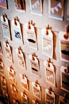 des cartes à récupérer par les invités pour s'asseoir D'autant plus que vous avez une thématique par table !