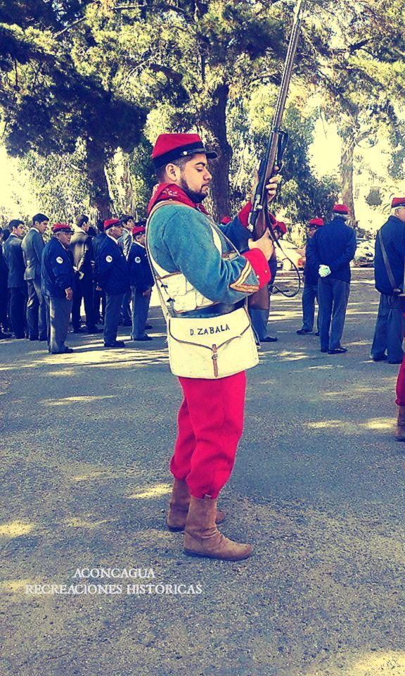 Recreando la historia en el Regimiento de Infantería Maipo N° 2, en Playa Ancha, Valparaíso.Año 2017