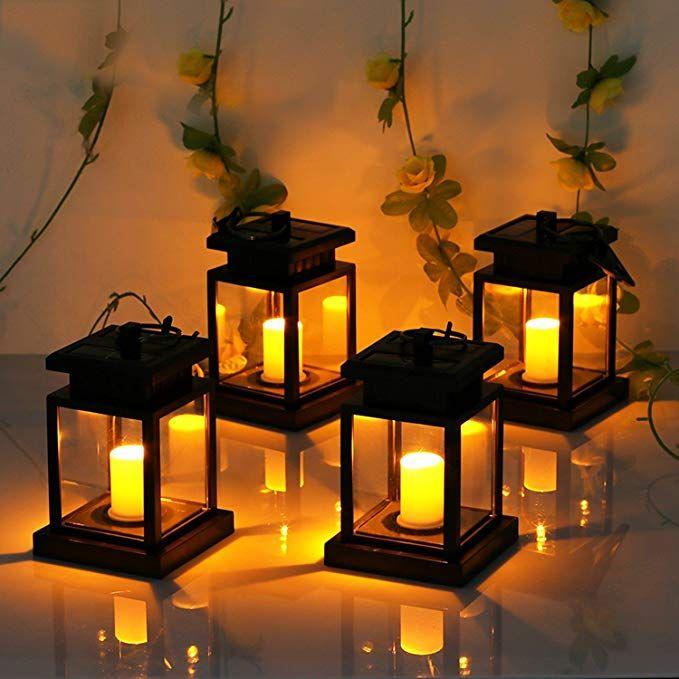 Solar Caged Fairy Light Lanterns Hanging Solar Lights Lantern Lights Solar Lights Garden
