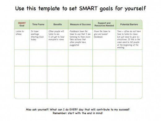 25  unique goals template ideas on pinterest