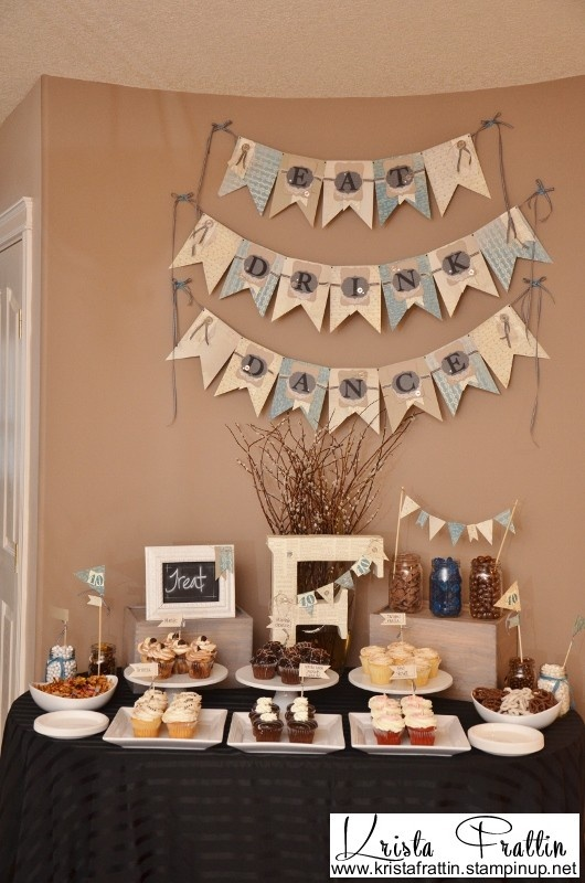 Fun banner and party decor from www.kristafrattin.stampinup.net