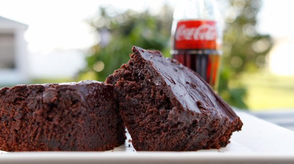This Coca-Cola chocolate cake recipe was contributed by a fan to Atlanta Cooknotes and was published by The Junior League of Atlanta.