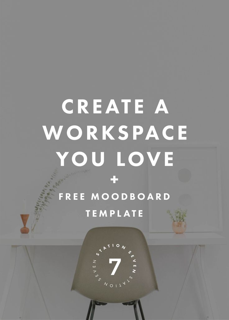 How to Create a Functional & Beautiful Workspace. Need some office organization and decorating ideas? Click through to learn how to create a functional office and studio, while keeping it beautiful and inspiring. Repin to fill in the moodboard template with your favorite office ideas and designs.