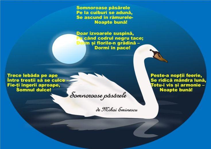 """""""Somnoroase păsărele"""" de Mihai Eminescu"""