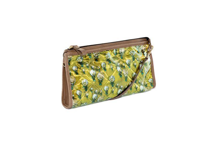 Crystal Clutch Bi-Color Canary Yellow-Sand  http://federicalunello.com #federicalunello #bags #accessories #handmade #madeinitaly