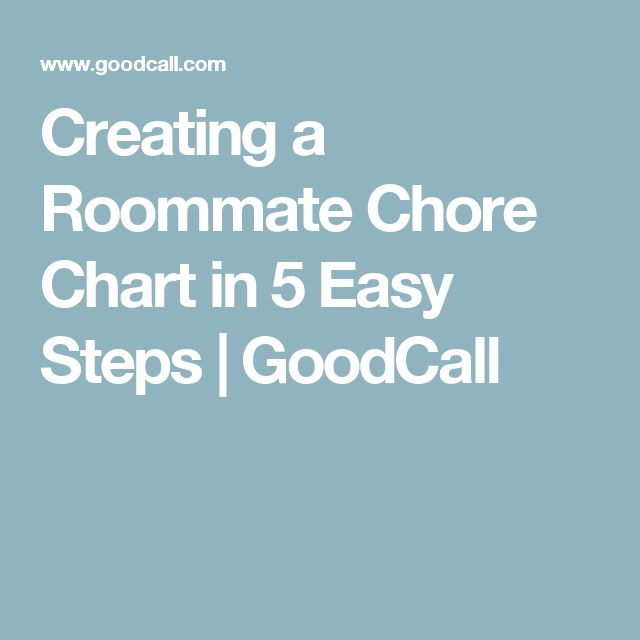 Creating a Roommate Chore Chart in 5 Easy Steps | GoodCall