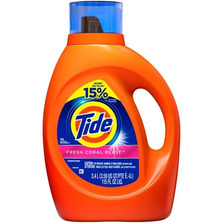 Tide Fresh Coral Blast 64 Loads Liquid Laundry Detergent 100 Fl Oz Walmart Com In 2021 Tide Detergent Tide Laundry Detergent Tide Liquid Detergent