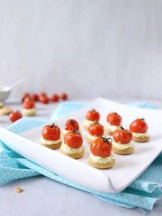 Recette Sablés apéritifs ricotta et tomates cerise rôties, notre recette Sablés apéritifs ricotta et tomates cerise rôties - aufeminin.com