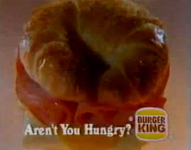 In the 1980s, the Burger King Croissan'Wich was on my Mind