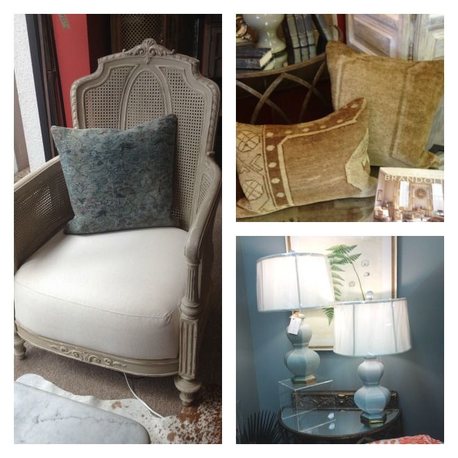 Items From Interior Spaces In Jackson, MS. Love The Chair And Pillow Combo!