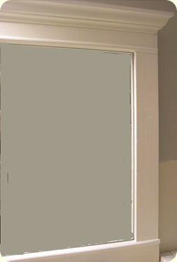 1000 ideas about framed bathroom mirrors on pinterest - Framing an existing bathroom mirror ...