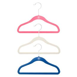 $2.99 for pkg/5  The Container Store > Kid's Huggable Hangers®Pink Hangers, Kids Clothes, Huggable Hangers, Bambina Room, Man Wardobe, Hangers Blue, Youngest Members, Kids Clothing, Kids Huggable