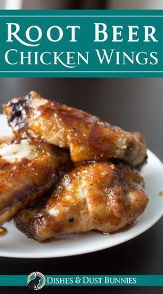 Root Beer Chicken Wings from dishesanddustbunn