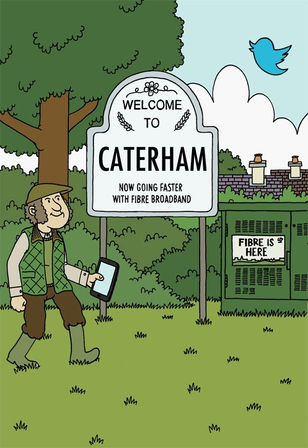 Living in Caterham? More fibre broadband availability - Superfast Surrey