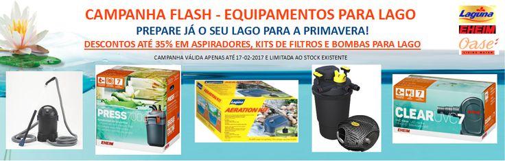 Campanha Flash - Equipamentos para Lagos - Descontos directos até 35% em produtos seleccionados - Só até 17 de Fevereiro 2017! | Aquacomets - Tudo para Aquariofilia e Lagos Ornamentais