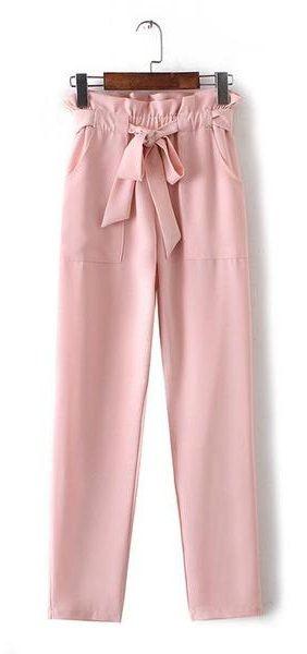 Women's #Chiffon Elastic Waist Pants