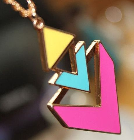 Color Me Pretty Necklace! #jewelry #bold #necklace #trendy #fashion