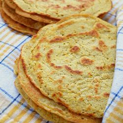 Chickpea flour tortillas are a great substitute for corn tortillas if you need low carb and diabetic friendly recipe.