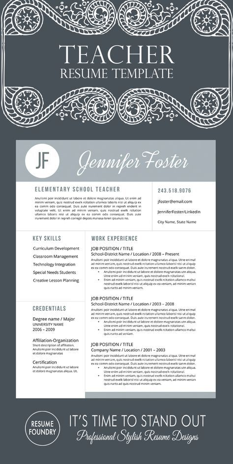creative teacher resume templates free preschool template word 2007 resumes