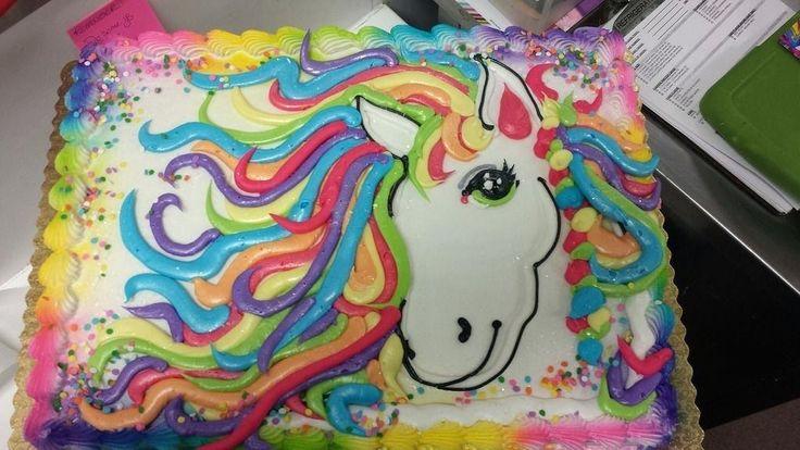 Regenbogen Unicorn Sheet Cake Einfache Dekoration Kuchen Geburtstagstorte Foto mit Namen  – kimmys food recipes