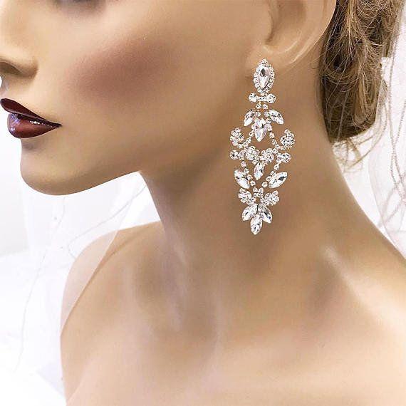 Bridal Jewelry Bridal Chandelier Earrings Crystal Chandelier